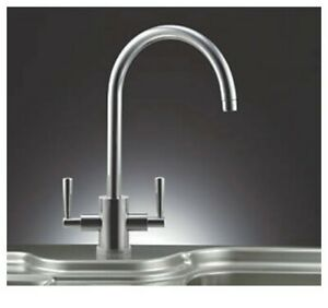 Franke Olympus Dual Lever Mono Mixer Kitchen Tap - Silk Steel