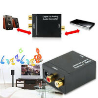 Digital Optical Coax to Analog RCA L/R Audio Converter Adapter For Microphone X1