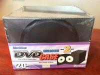 Premium 7mm Slim Dual CD DVD Storage Case Double Black 2 Discs Box. 20 Pack. New