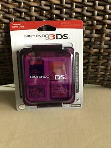 NEW! Nintendo 3DS Compact Game Case - Clear Purple - Stores 16 Game Cards -
