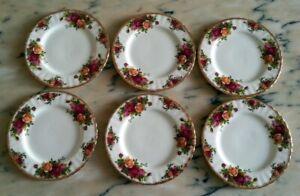Royal Albert Old Country Roses 6 piatti dolce frutta 18 cm porcellana inglese