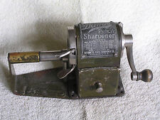 """Antique Early 20th Century Steel """"Dandy Automatic Feed Pencil Sharpener""""/Works"""