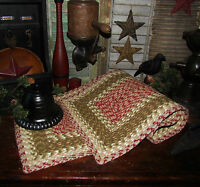"""Primitive Natural Cotton Braided 36"""" TABLE RUNNER Trivet/Placemat Rectangle #24"""