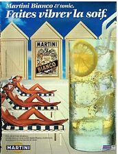 Publicité Advertising 1987 Apéritif Martini