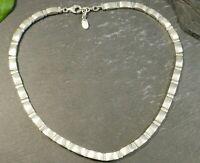 Mächtige 925 Silber Kette Markenschmuck Esprit Vintage Retro Brutalist Collier