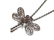"""Dragonfly Pearl Cage Optional Stainless Steel Chain 18"""" 20"""" 24"""" 28"""" Pick a Pearl"""