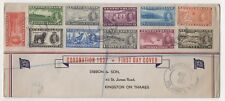 Newfoundland. 1937 Coronation set x 11 values on Illustrated First Day Cover.