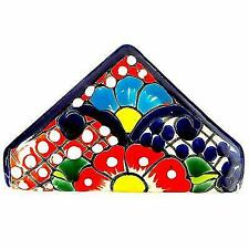 Talavera Napkin Holders Pottery - Authentic Hand Painted Mexican Multicolor