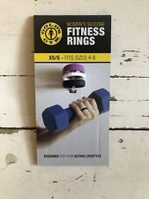 Golds Gym Women Silicone Fitness Rings Women's White Black Purple Size 4-6 (S)