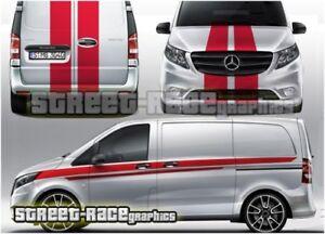 Mercedes Vito FULL racing stripes 009 decals vinyl graphics sport van