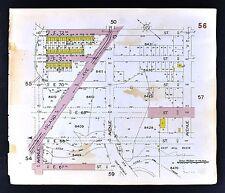 1929 Brooklyn Map Bergin Beach Area Island Avenue 67-72 Street New York City NYC