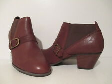 Bass Womens Paloma Leather w/ Strap & Metal Buckle Ankle Bootie Cognac Size 10 M