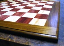 Chess Board - Solid Hardwood with Maple & Purpleheart Squares and Jatoba Border