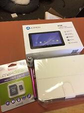 """AZPEN A729  7"""" 8GB Dual Core Tablet Android w/white CASE w/4GB MSD card extras"""