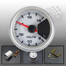 """Volt gauge white stepper motor 7 colour display mount panel 52mm 2"""""""