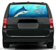 Fishing Marlin and Tuna Rear Car or Caravan Window Vehicle Graphic Sticker/Decal