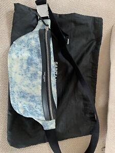Yves Saint Laurent Marsupio Denim Leather Belt Bag Fanny Pack