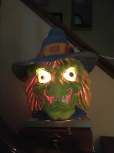 RARE~1993 Trendmasters Lite Up Monster head Scary Witch~Never Used~Still has tag