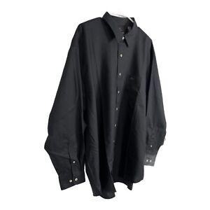 Greg Norman Men's Long Sleeve Button Down Shirt Black Linen Cotton XL New