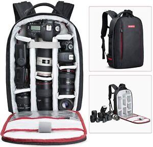 Beschoi DSLR Kamera Rucksack Wasserdichte Kameratasche für Sony Canon Nikon DSLR
