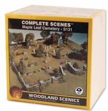 NEW Woodland HO Train Scenery Maple Leaf Cemetery Kit S131