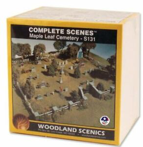 NEW Woodland HO Train Scenery Maple Leaf Cemetery Kit S131