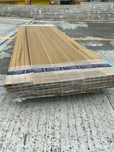 Pack of 50 Seconds, 4-Hole Composite 2.4m Decking Boards, Teak colour SALE DIY