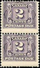 1906 Mint H Canada F+ Scott #J2 Pair 2c Postage Due Stamps