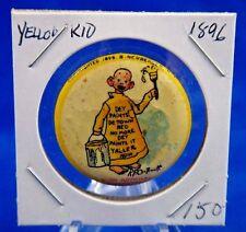 "1896 High Admiral Cigarettes Yellow Kid #22 Advertisin Pin Pinback Button 1 1/4"""