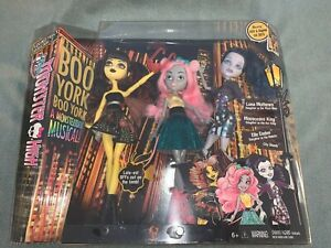 2014 Monster High - Boo York, Boo York - 3 Pack Luna, Mouscedes & Elle - MIB