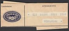 ICELAND SIMSKEYTI LANDSSIMI ISLANDS RARE TELEGRAMME WITH LABEL