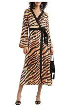 RIXO Gigi tiger stripe print sequin dress BNWT medium M yellow black wrap dress