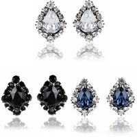 Charm Women's Rhinestone Resin Fashion Jewelry Crystal Drops Ear Stud Earrings