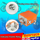 2x 12V Turn signal Flasher Blinker Relay fix DC Motorcycle LED Indicator Lights