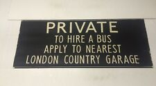 """London Linen Bus Blind 4/1974 36""""- Private To Hire A Bus London Country Garage"""
