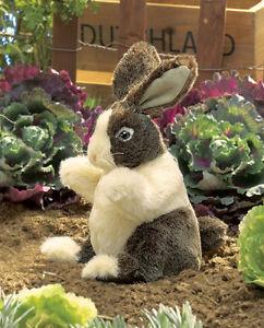 NEW PLUSH SOFT TOY Folkmanis 2571 Baby Dutch Rabbit Full Body Hand Puppet