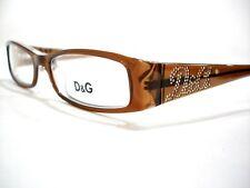 New Dolce & Gabbana Eyeglasses D&G 1128 Light Brown 468 Authentic 49-16-135