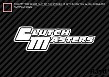 """(2x) Clutch Masters Decal Sticker Die Cut (8"""" wide)"""