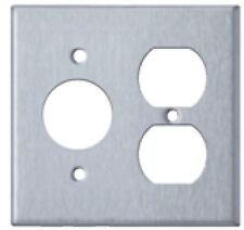 Westgate Ssc26 Two Gang with Duplex Receptacle Stainless Steel Wallplate