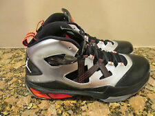 Nike Men's Jordan Melo M9 Silver Black Orange Basketball Shoes 10.5 NIB $140