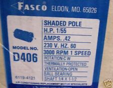 D406 FASCO MOTOR 1/55HP 230V 3000RPM