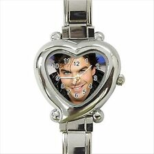 NEW* HOT IAN SOMERHALDER VAMPIRE DIARIES Heart Italian Charm Wrist Watch Gift