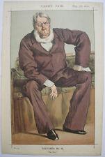 1871 GEORGE BENTINCK ENGLISH MP STATESMAN VANITY FAIR    COLOUR LITHOGRAPH PRINT