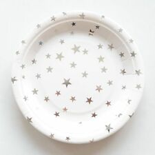 Party :  Paper Plate Star Gold Stamping Party Needs 10 pcs