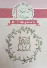 nini's things Owl & Wreath cutting stencil set fancy dies Elegant scrapbook