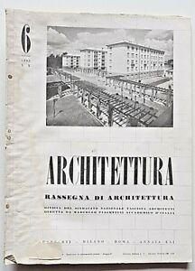 Architettura Rivista sindacato fascista n 6 1942 Piacentini Emilio Lancia Milano