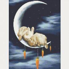Full Drill 5D Rabbit Moon Diamond Painting Art Decor Embroidery Cross Stitch Kit