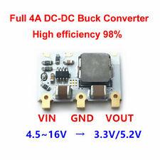 DC-DC 4.5V-16V 12V 9V 6V to 3.3V 5V 4A Step Down Voltage Regulated Power Supply