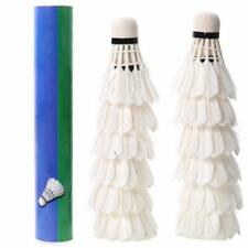 Professional Shuttlecock Training Match Duck Feather Ball Badminton 12x Durable