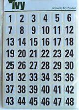 0-99 ADESIVI ETICHETTE numerati Autoadesivo numeri stock etichette ufficio scuola